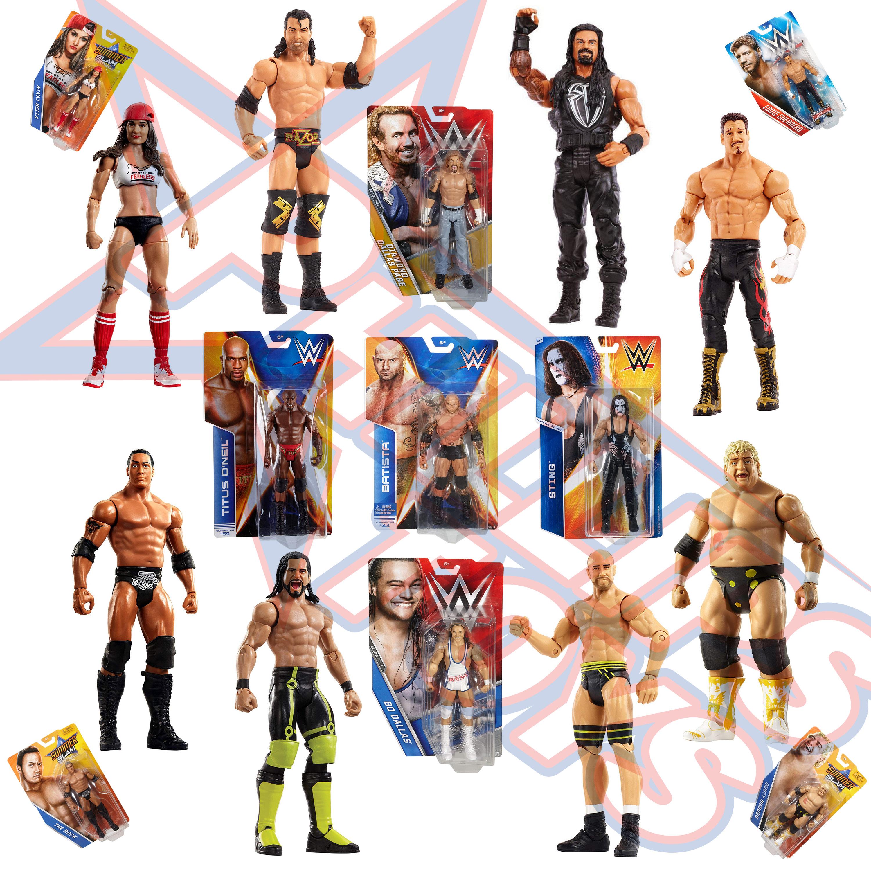 Choose WWE Mattel Retro Series 3-Goldberg,AJ Styles,Seth Rollins,Dean Ambrose