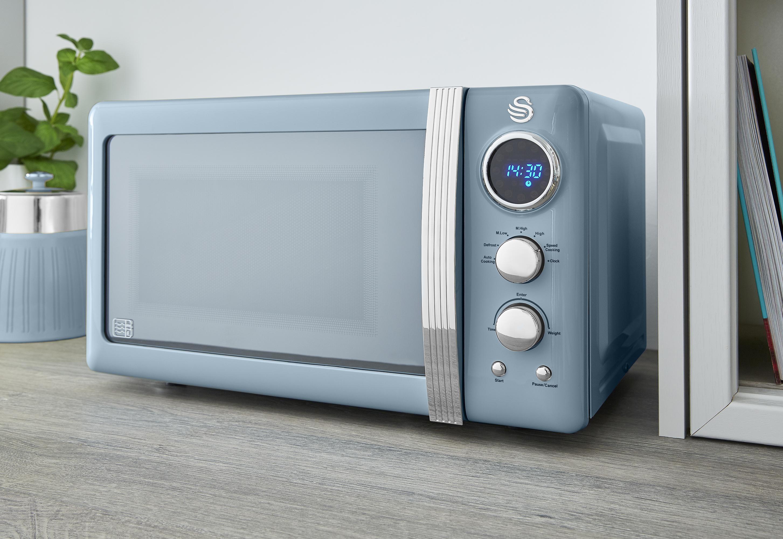 thumbnail 23 - Swan Retro 1.5L Jug Kettle 3KW, 2 Slice Toaster 815W & 20L Digital Microwave Set