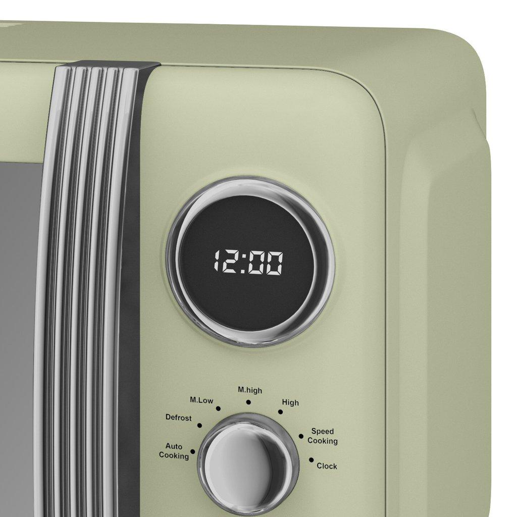 thumbnail 48 - Swan Retro 1.5L Jug Kettle 3KW, 2 Slice Toaster 815W & 20L Digital Microwave Set