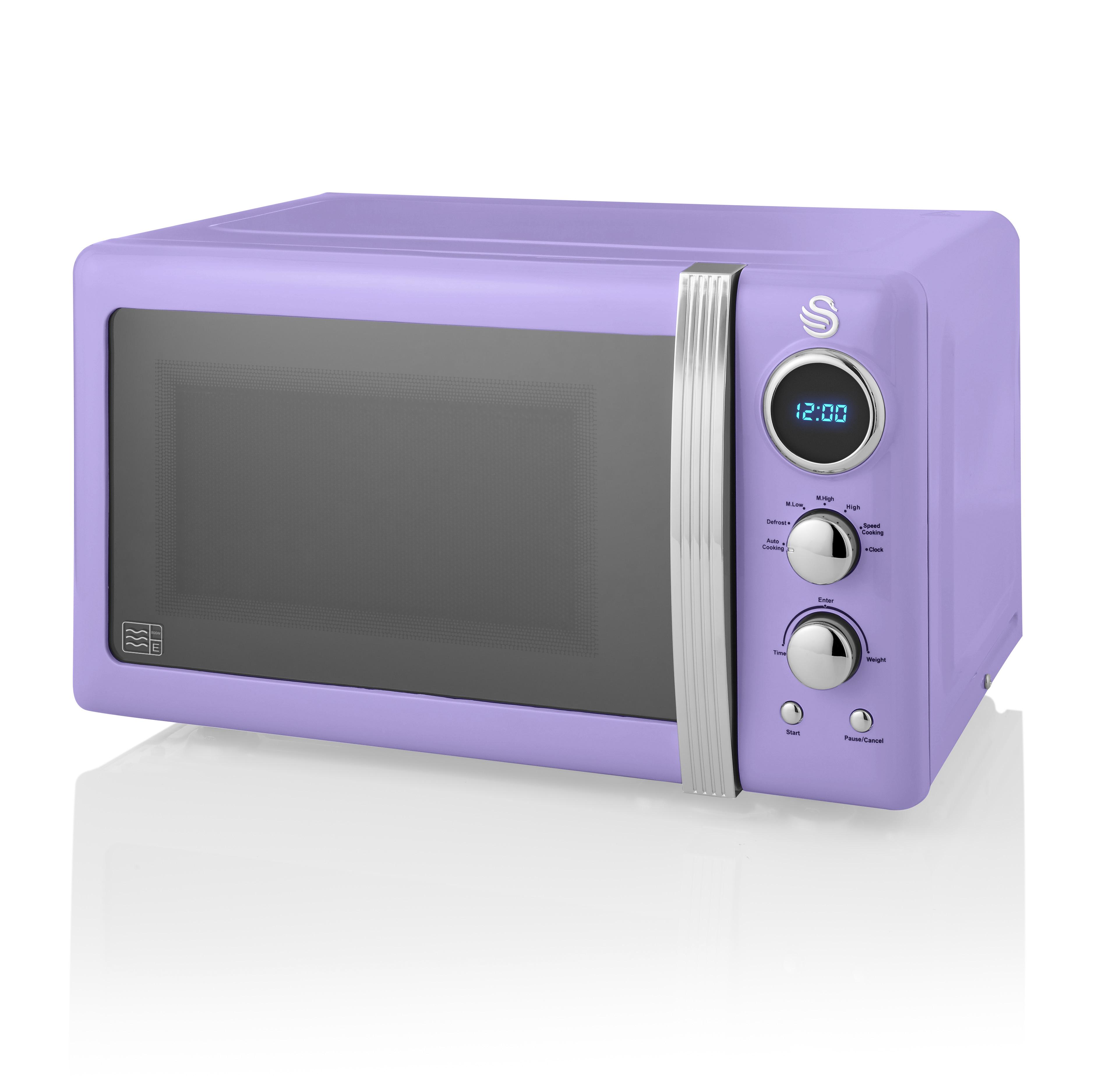 thumbnail 94 - Swan Retro 1.5L Jug Kettle 3KW, 2 Slice Toaster 815W & 20L Digital Microwave Set