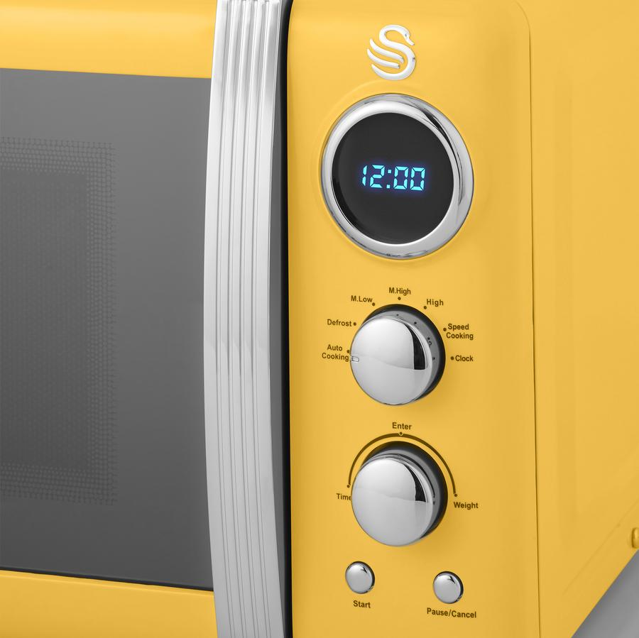 thumbnail 119 - Swan Retro 1.5L Jug Kettle 3KW, 2 Slice Toaster 815W & 20L Digital Microwave Set