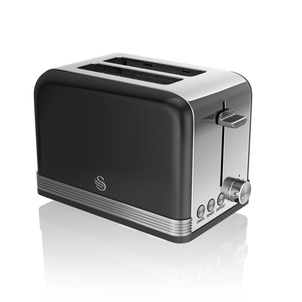 thumbnail 8 - Swan Retro 1.5L Jug Kettle 3KW, 2 Slice Toaster 815W & 20L Digital Microwave Set