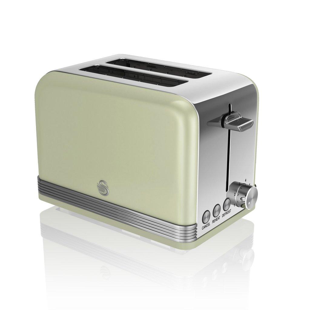thumbnail 44 - Swan Retro 1.5L Jug Kettle 3KW, 2 Slice Toaster 815W & 20L Digital Microwave Set