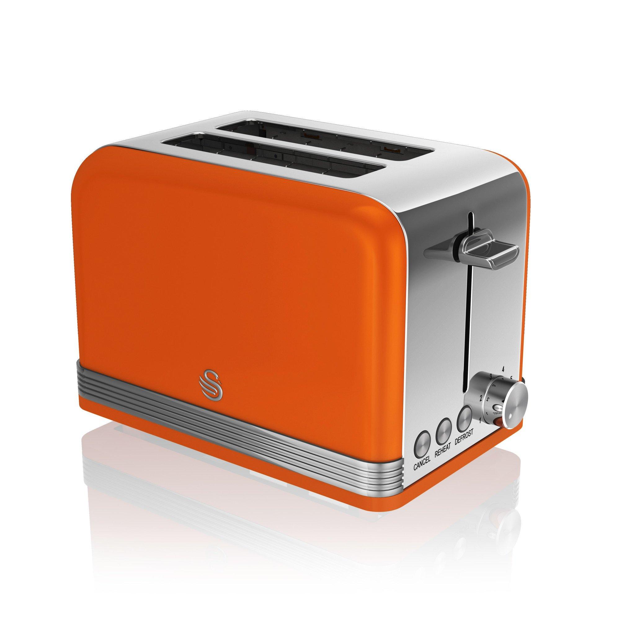 thumbnail 68 - Swan Retro 1.5L Jug Kettle 3KW, 2 Slice Toaster 815W & 20L Digital Microwave Set