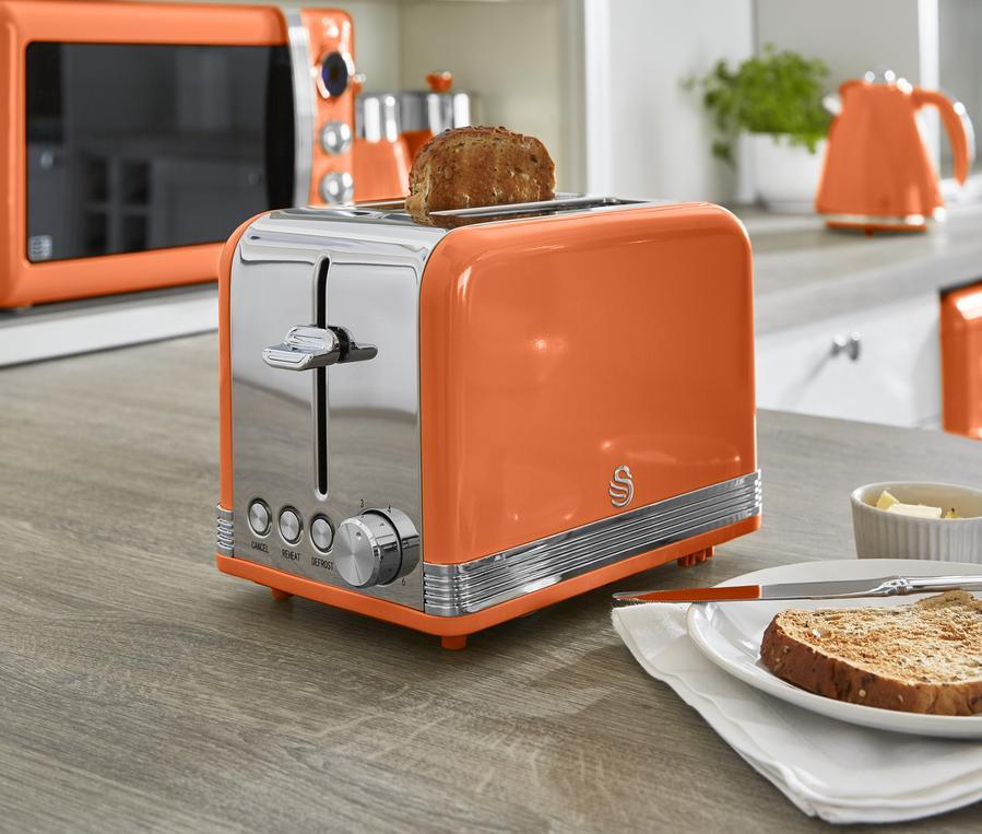 thumbnail 67 - Swan Retro 1.5L Jug Kettle 3KW, 2 Slice Toaster 815W & 20L Digital Microwave Set