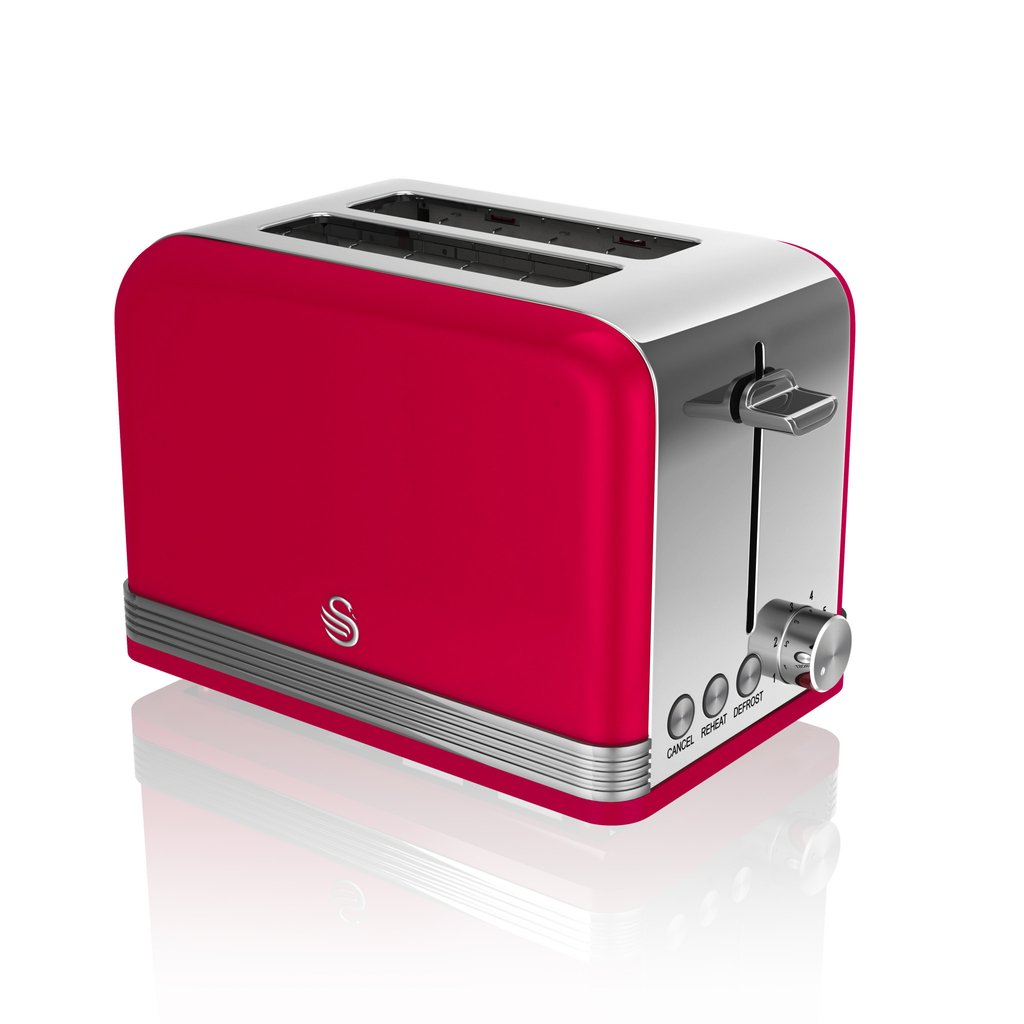 thumbnail 103 - Swan Retro 1.5L Jug Kettle 3KW, 2 Slice Toaster 815W & 20L Digital Microwave Set