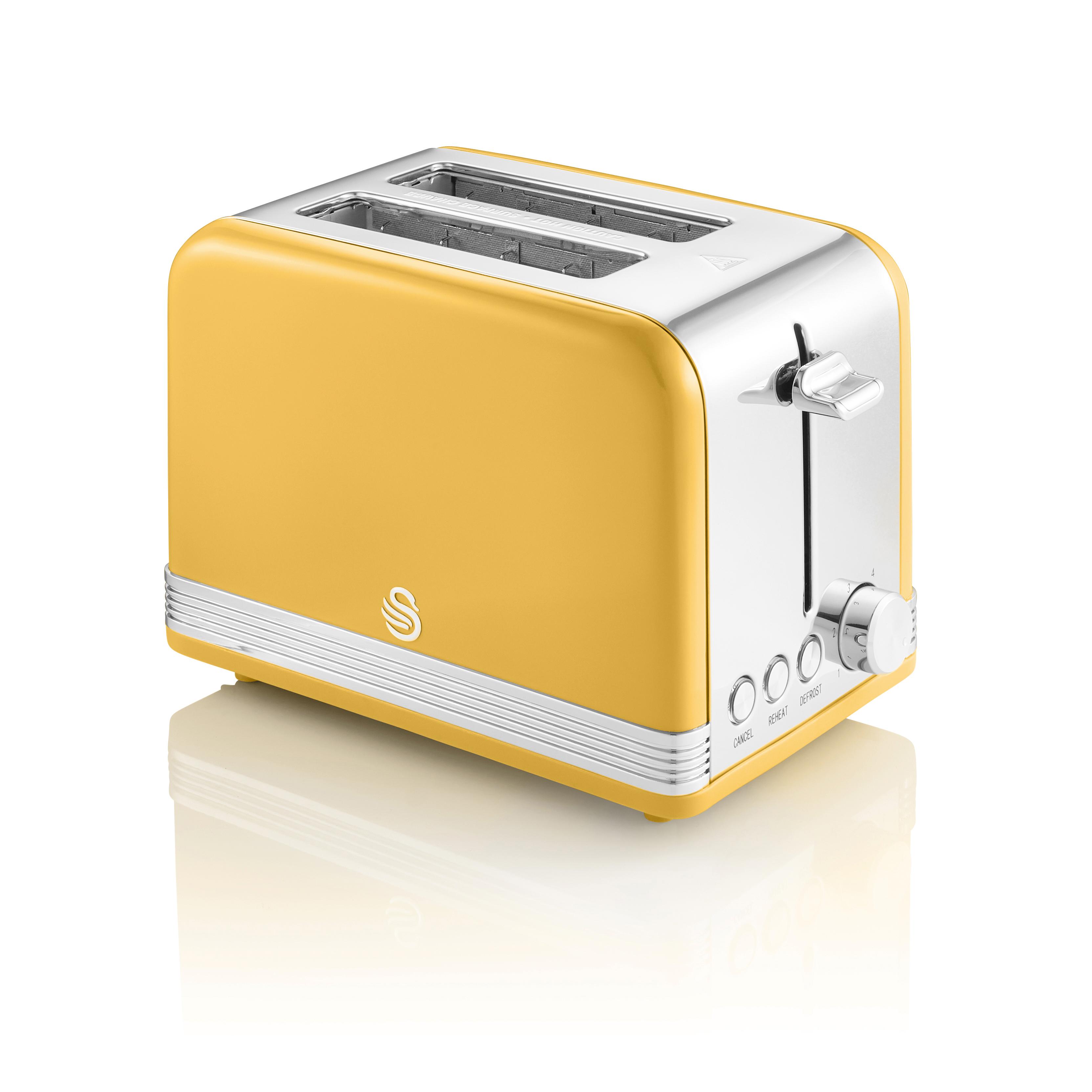 thumbnail 114 - Swan Retro 1.5L Jug Kettle 3KW, 2 Slice Toaster 815W & 20L Digital Microwave Set