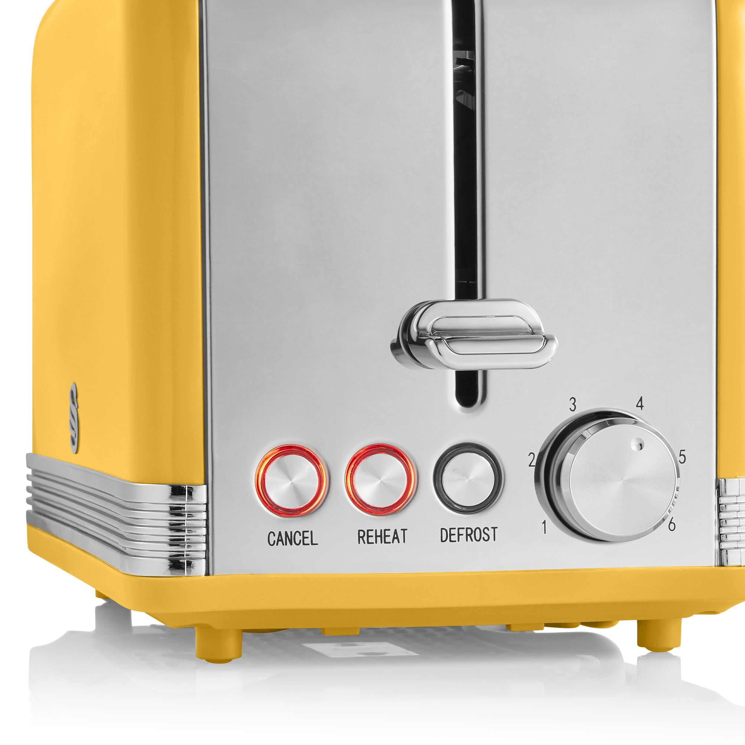thumbnail 115 - Swan Retro 1.5L Jug Kettle 3KW, 2 Slice Toaster 815W & 20L Digital Microwave Set