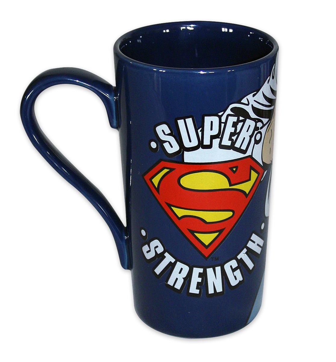 Premium Design Kaffeetasse NEU Latte Macchiato Tasse XL 450 ml Superman Logo