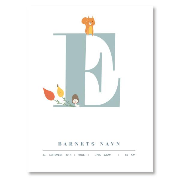 Navneplakat E