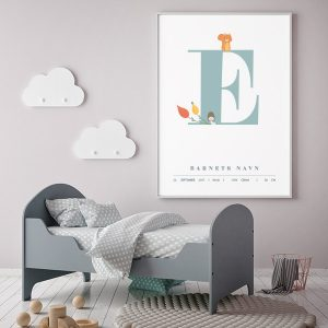 Fødselsplakat E