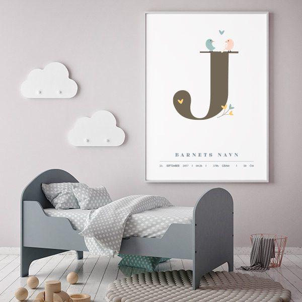 Fødselsplakat J