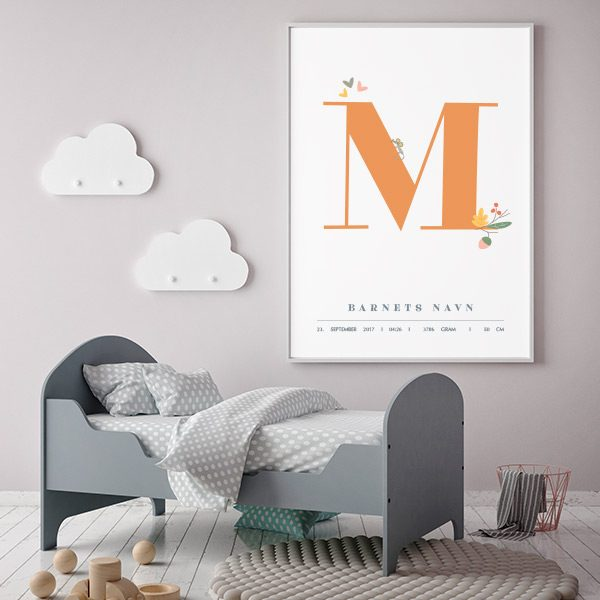 Fødselsplakat M
