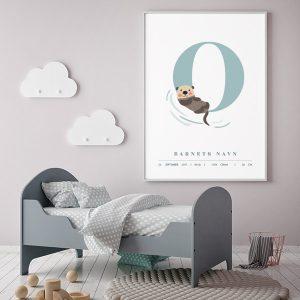 Fødselsplakat O