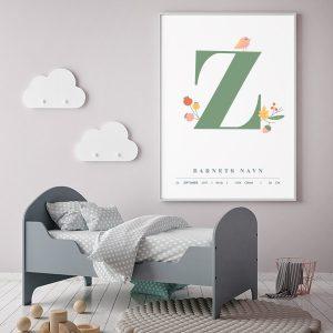 Fødselsplakat Z