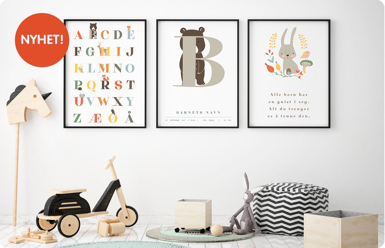 505a28f9 Plakater til barnerommet - få det fint - Bluum