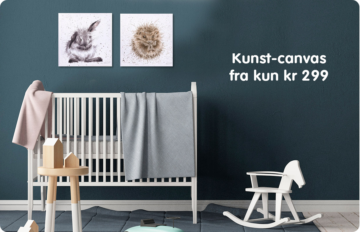 Kunst-canvas til barnerommet