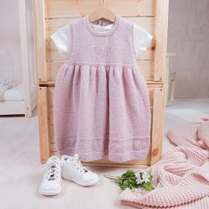 Bluum strikkekjole - Hjerte - i Pure Eco baby Wool