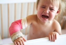 Brukket arm barn