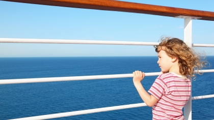 Barn på båtreise