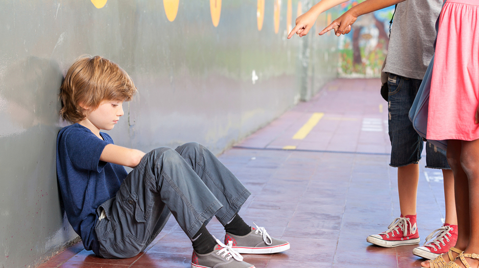 Barn som blir mobbet viser ofte tegn til mistrivsel. Illustrasjonsfoto: Shutterstock