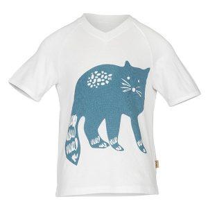 """THEO t-skjorte med """"Katt"""" - blå blues"""