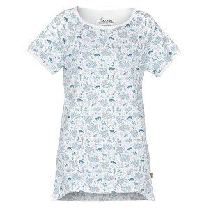 """JANNE t-skjorte i mønster """"Harmoni"""" - blå blues"""