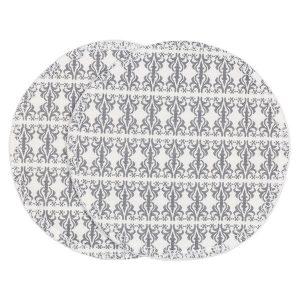 """ASTRID ammeinnlegg i mønster """"Etikette"""" - grå skifer 13x13"""