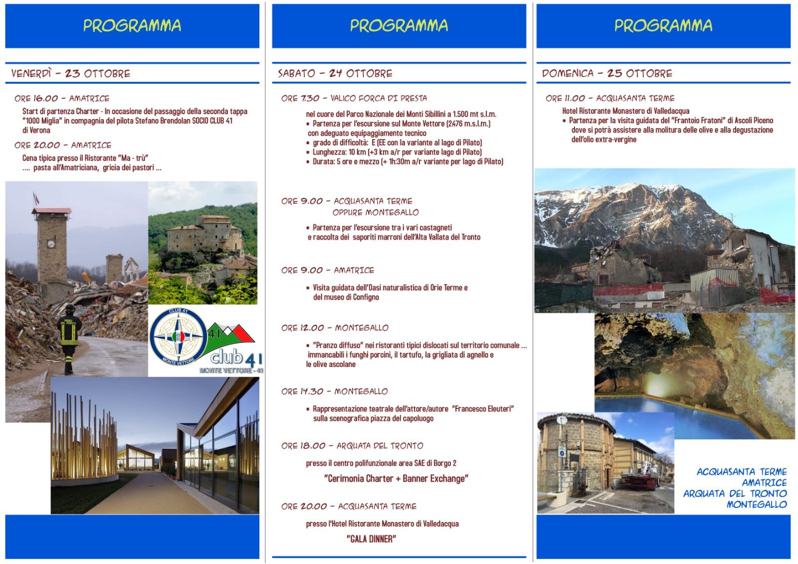 --RIMANDATO-- Charter Club41 Monte Vettore n.41