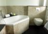 Waschbecken Fliesen Dusche aus Naturstein