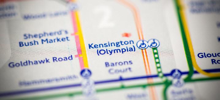Kensington Olympia map