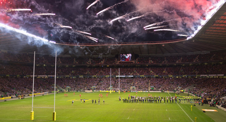Match day at Twickenham