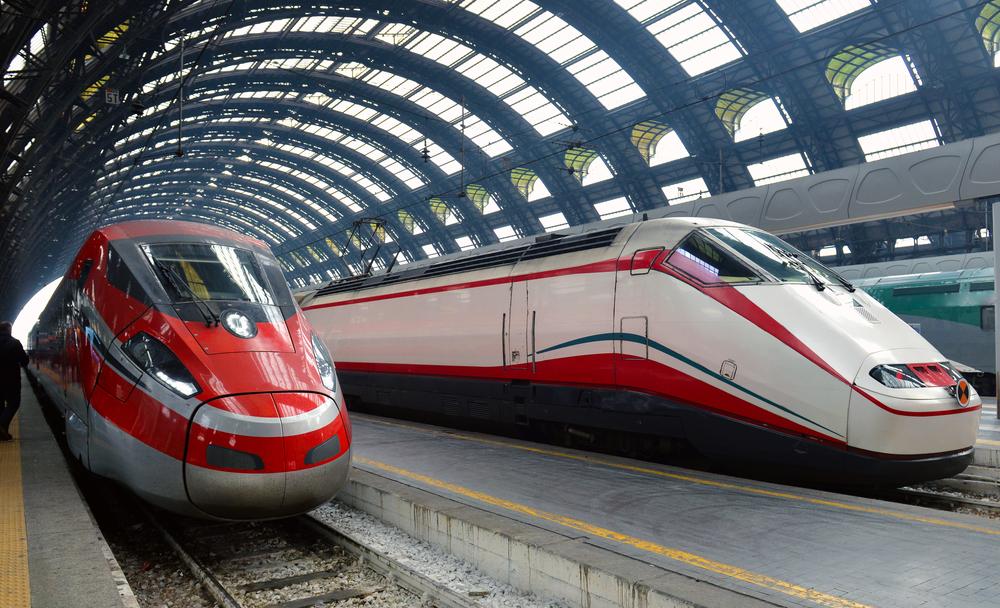 treno Frecciabianca in stazione