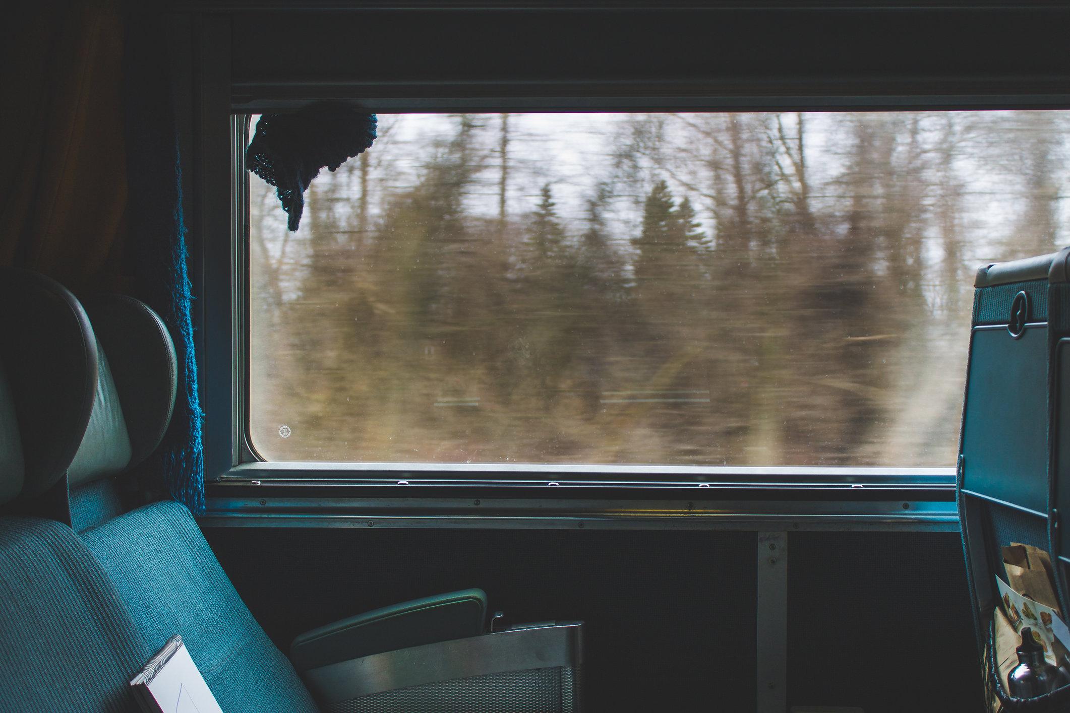Finestrino di un treno
