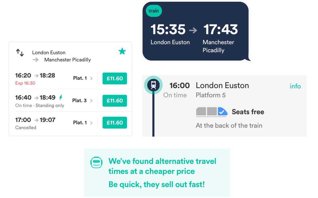 Trainline app goodies