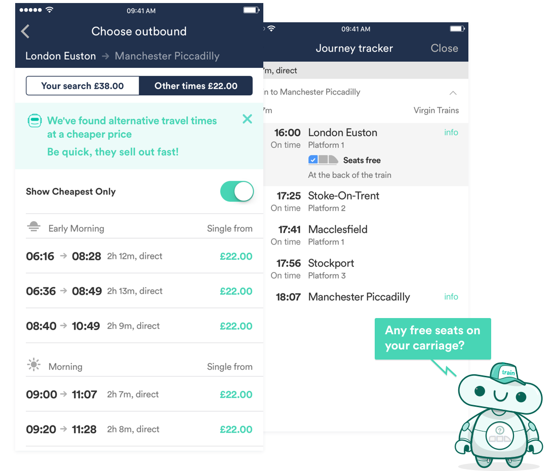 Trainline App | Check train times, book tickets, save time & money