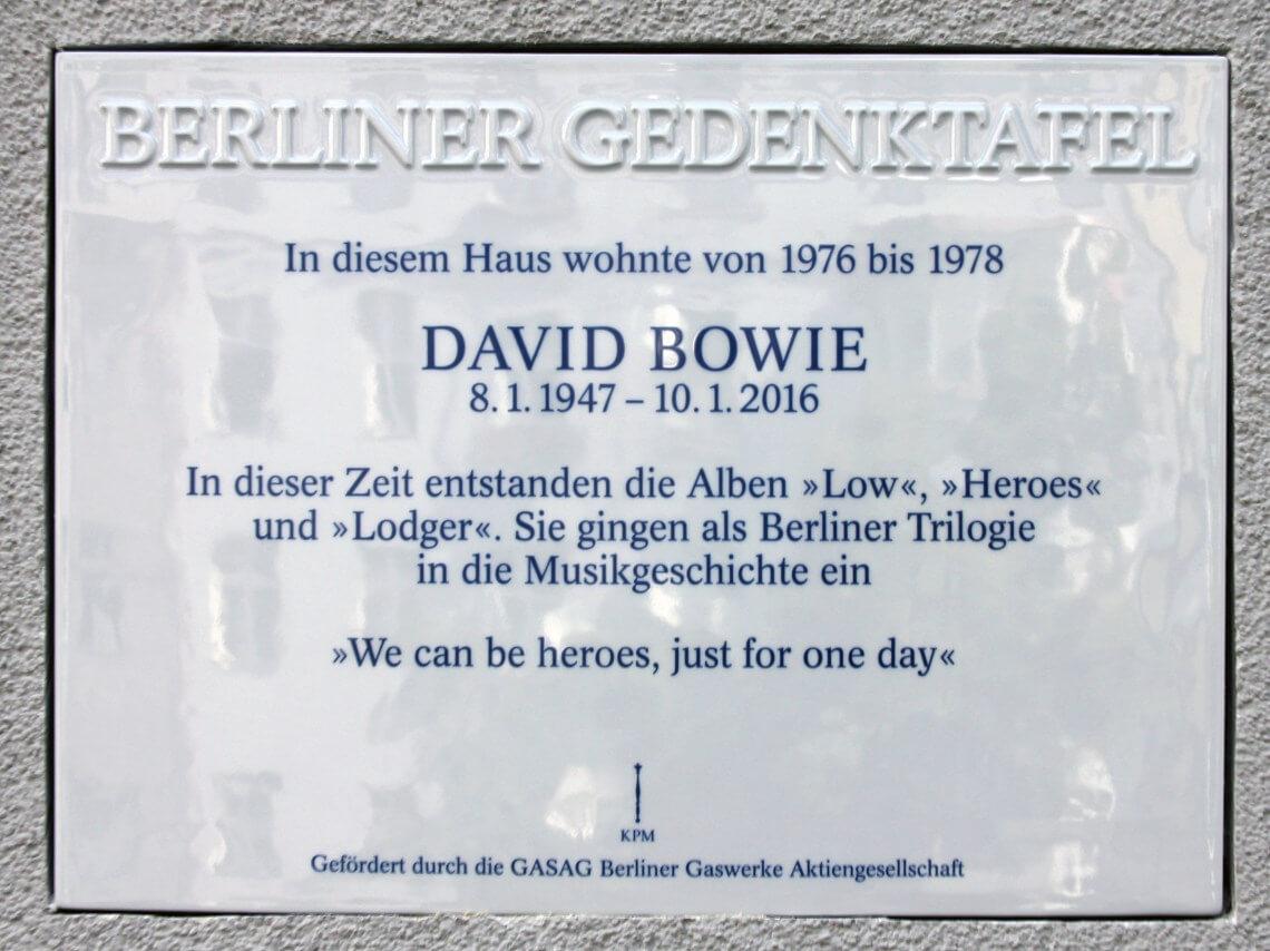 Bowie's place in Schoeneberg