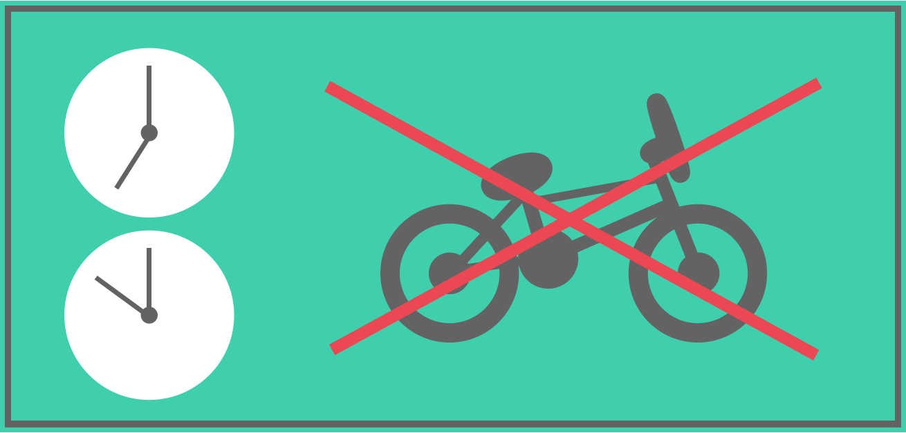Bikes are restricted on peak train services.