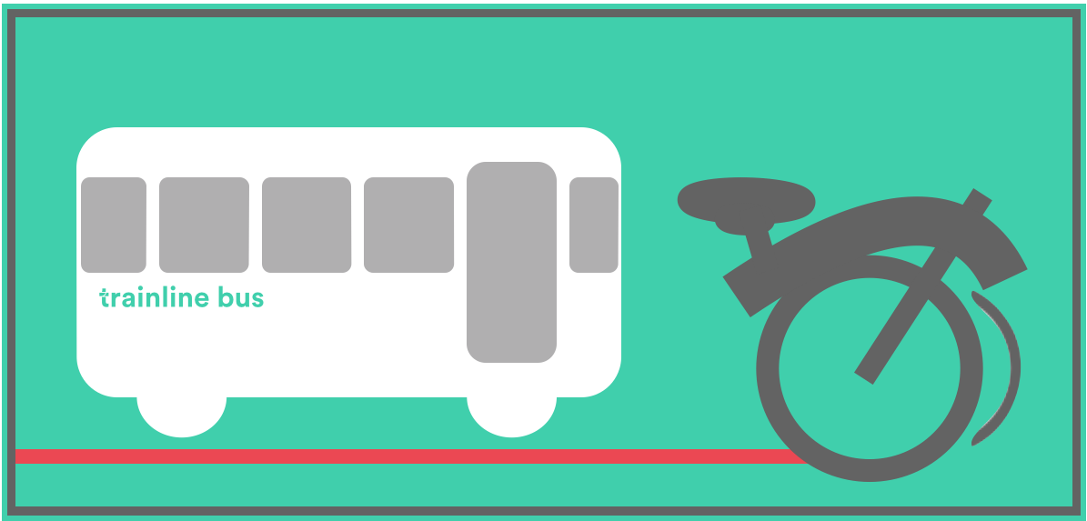 Full sized bikes aren't normally permitted on a rail replacement bus.
