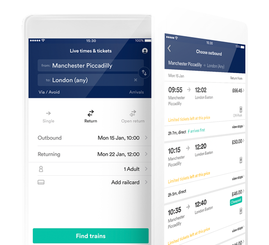 trainline app check train times book tickets save time money