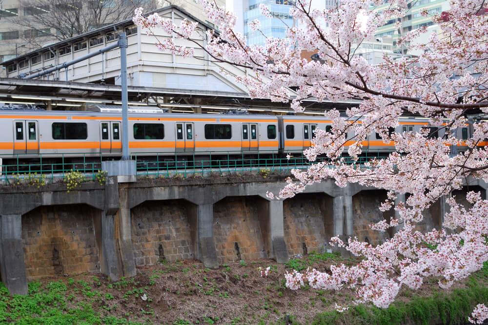 Train japonais à Tokyo