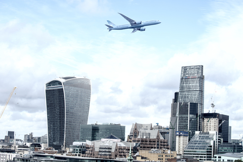 Plane over London