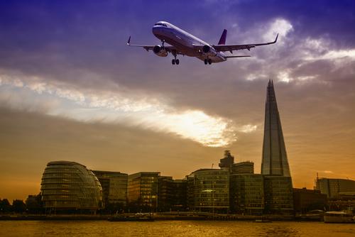 Plane over London
