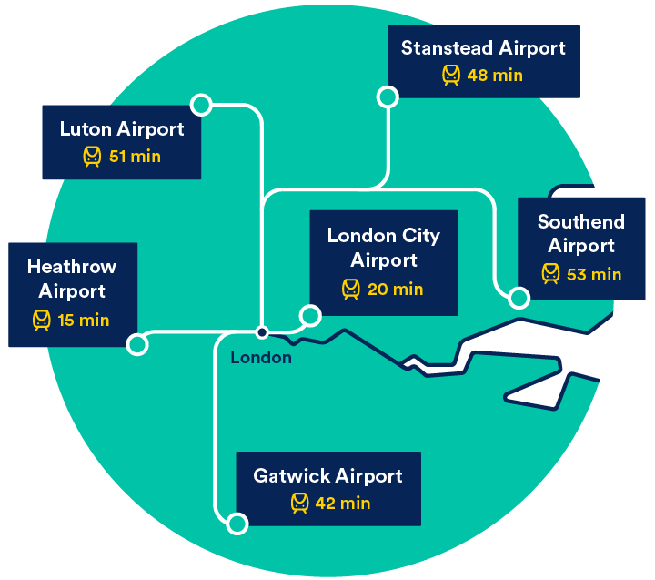 airport map of london Uk Airports Map List Of Uk Airports Trainline airport map of london