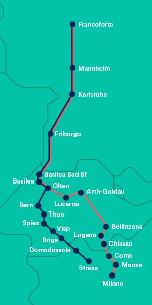 mappa treno da milano a francoforte