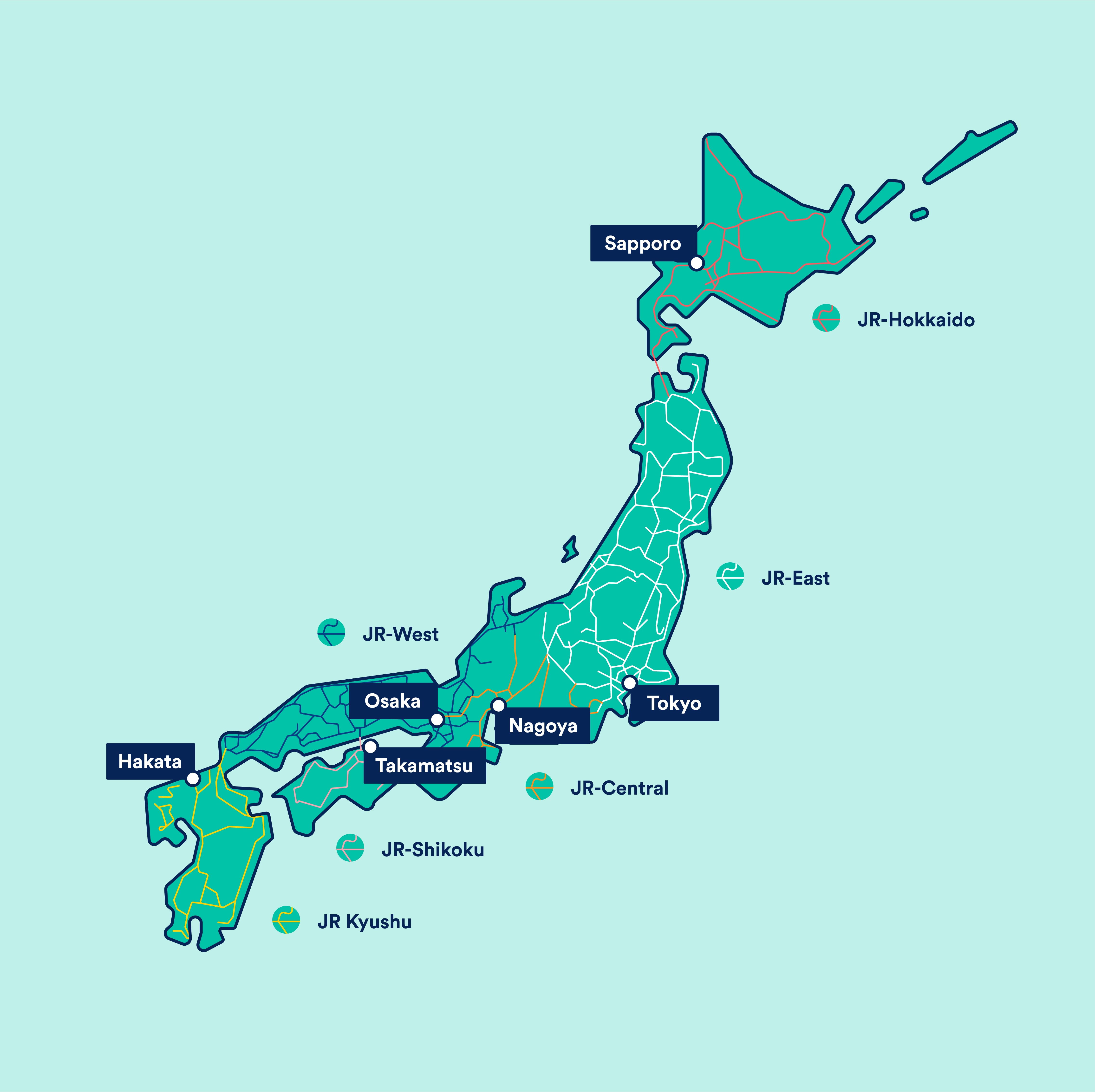 mapa japan rail pass
