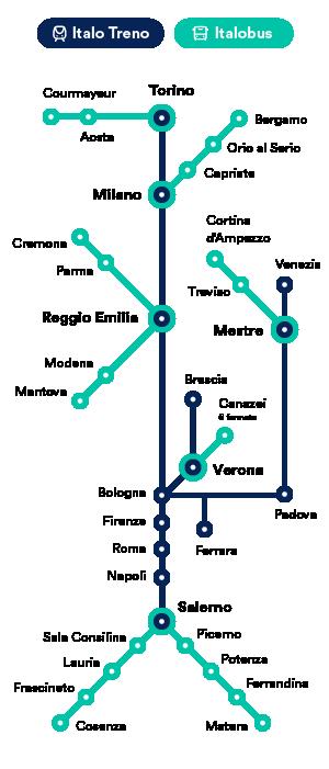Italo route map
