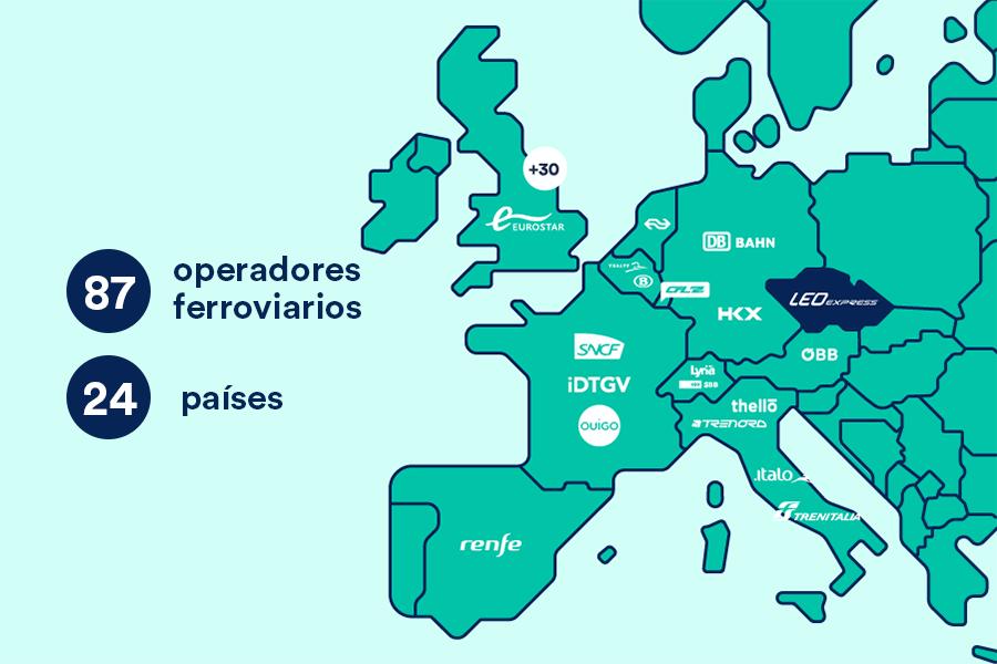 mapa trenes República Checa