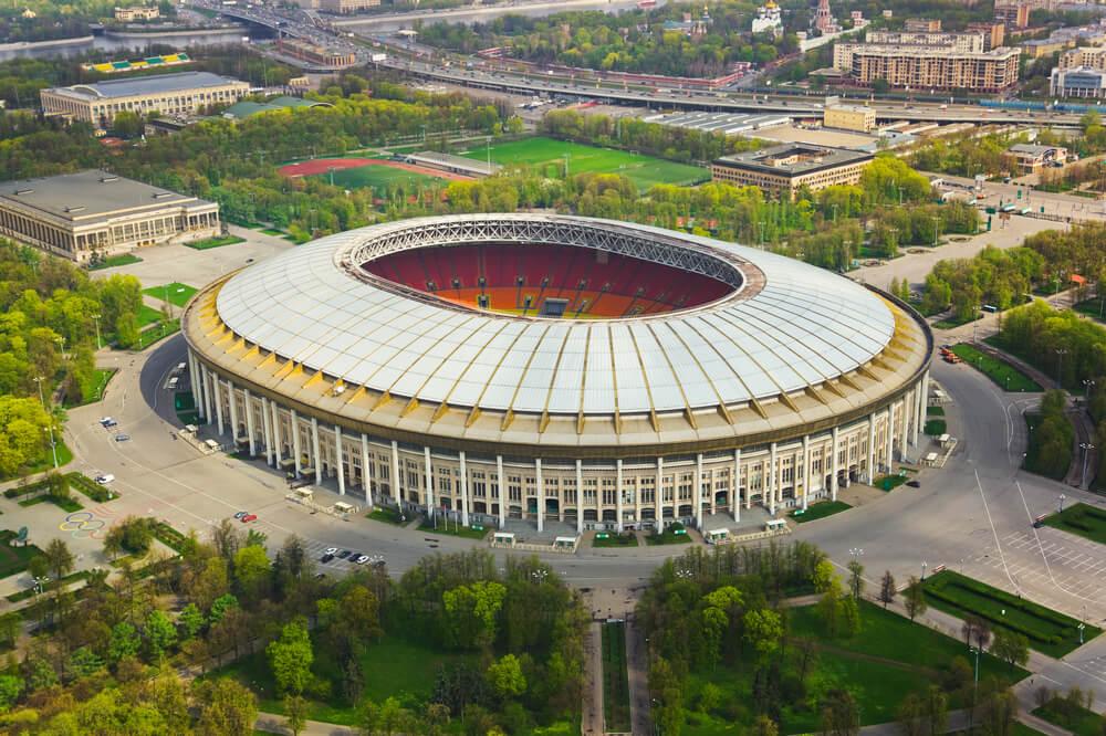 Le stade Luzniki à Moscou