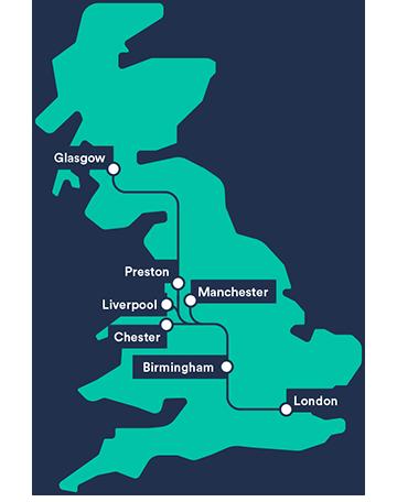 Virgin Trains Seat Sale Map